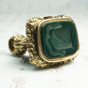 Bloodstone Fob Seal with Fortescue Family Crest
