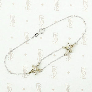 Shooting stars bracelet by 720 in 14k white gold and diamonds.
