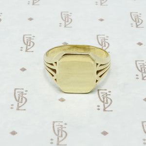 larter and sons 14k green gold signet ring