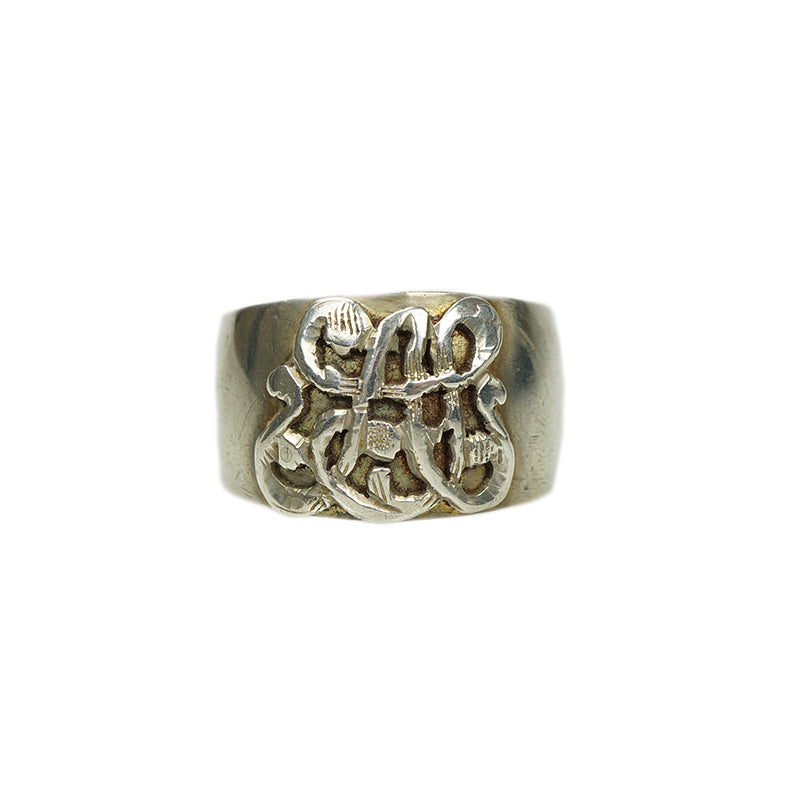 Mysterious Antique Wide Silver Band 6447973b29b