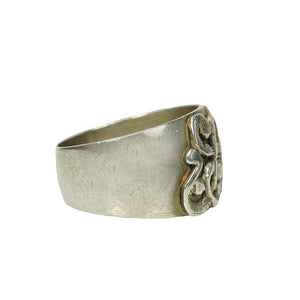 Mysterious Antique Wide Silver Band