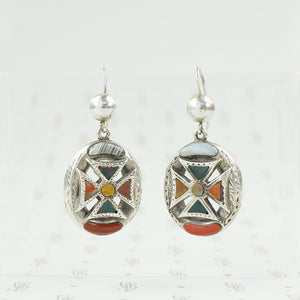 scottish silver pebble earrings