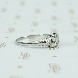 1930's white gold diamond engagement ring affordable