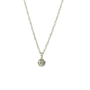 Orbit Bezel Set Diamond Pendant - Gem Set Love