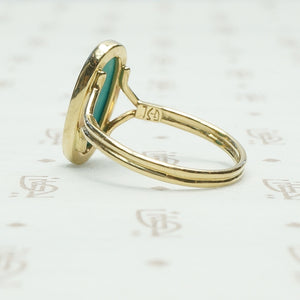 The Summer Sky Turquoise and Recycled Gold Ring