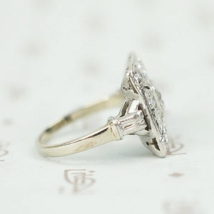 Gorgeous Art Deco Diamond Square Ring
