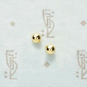 Recycled 14k Gold 4mm Ball Stud Earrings