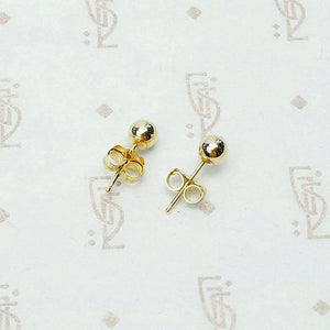 Recycled 14k Gold 3mm Ball Stud Earrings