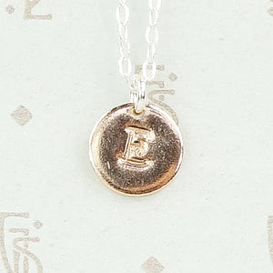 Stamped Initial Pendant