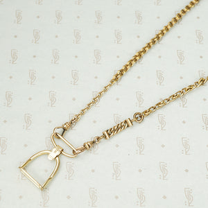The Golden Stirrup Double Hook Necklace