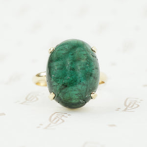 teal cabochon tourmaline ring