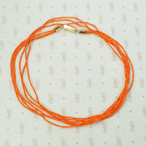 Elegant and Delicate Three Strand Antique Coral Necklace