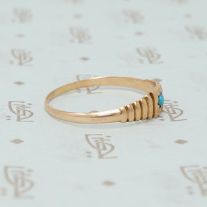 rose gold band with turquoise side