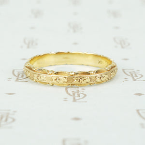 Vintage Yellow Gold Orange Blossom Band