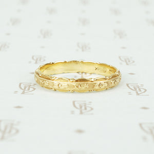 14k yellow gold 1920's traub orange blossom wedding band