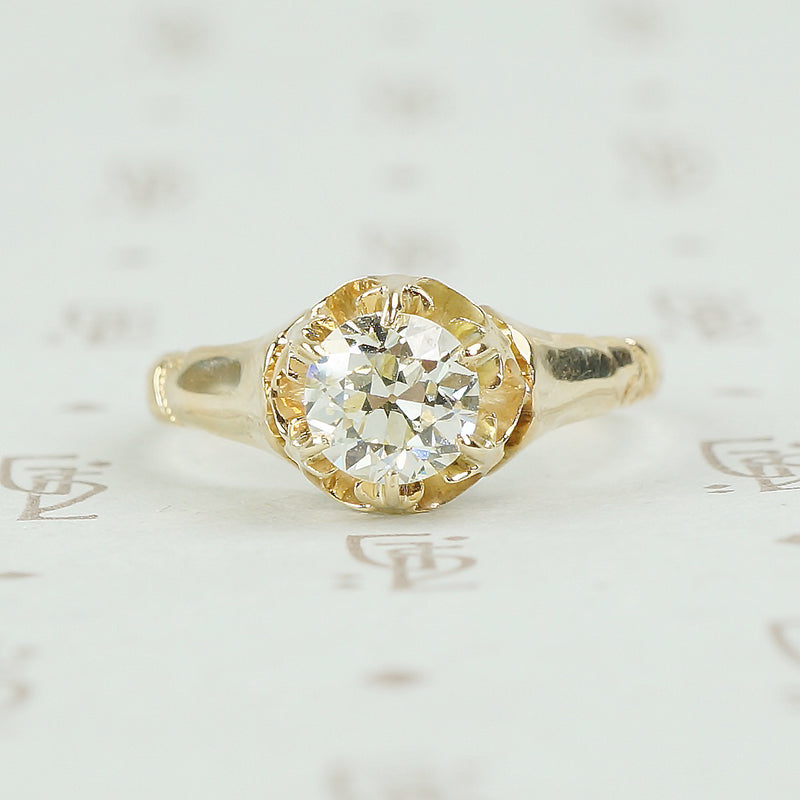 a67209b72a5 Old European Cut Diamond Vintage Solitaire Engagement Ring