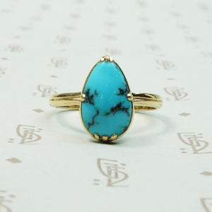 The Kingman Turquoise Specimen Ring