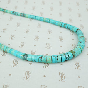 Vintage Turquoise Heishi Bead Necklace