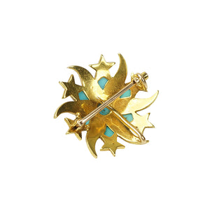 Gold Shooting Star Brooch