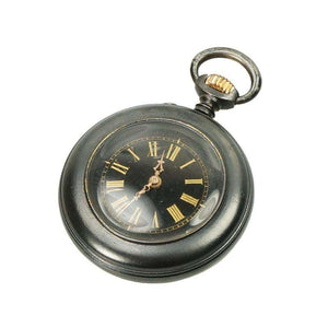 Gunmetal and Gold Ladies Antique Pendant Watch
