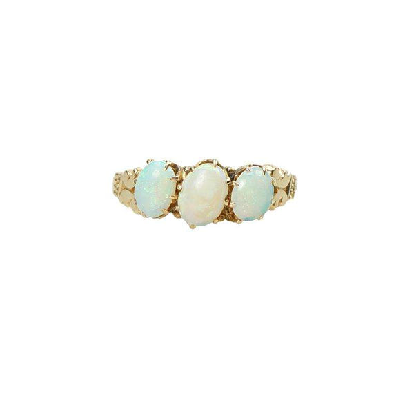 Lovely Opal and Rose Gold Victorian Ring