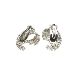 Pretty 1950s White Gold and Diamond Earrings