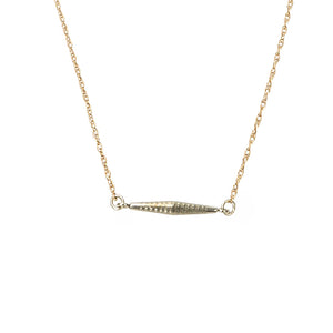 The Tiny Turned Link Necklace by brunet