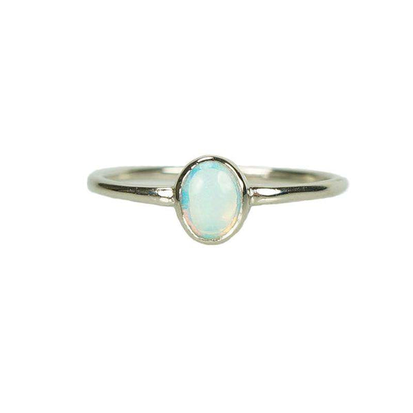 Fiery Vintage Opal set in White Gold