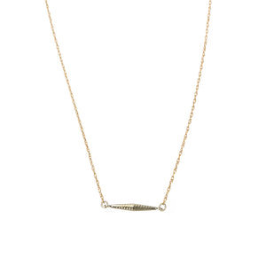 Tiny Turned Link Necklace by brunet