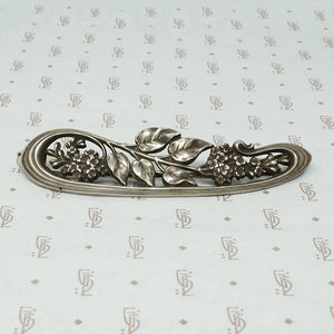 Large French Art Nouveau Silver Barette