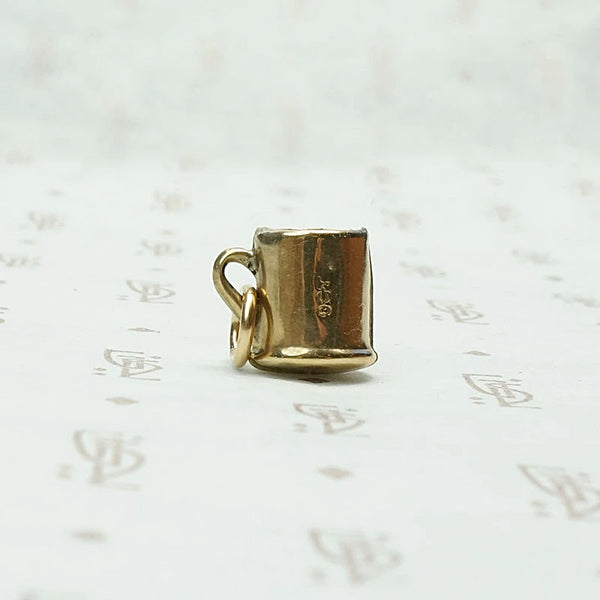 Mini Mug Charm in Gold