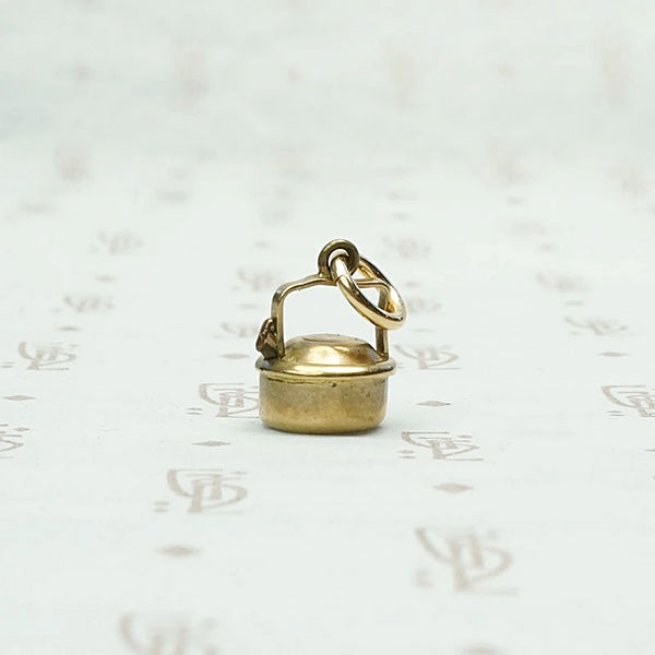 Itty Bitty English Tea Kettle Charm