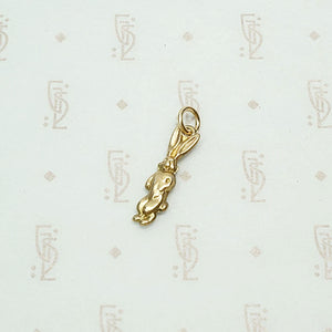 Whimsical English Gold Rabbit Charm