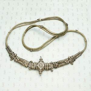 Antique Indian Woven Silver Belt