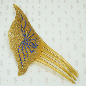 Elaborate Vintage Celluloid Butterfly Hair Comb