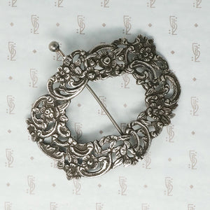 Romantic Georgian Silver Cloak Pin
