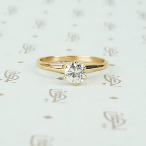 yellow gold vintage diamond solitaire engagement ring
