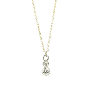 Orbit Double Diamond Pendant - Gem Set Love