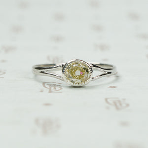 The Lumiére Oval Mine Cut Diamond Solitaire