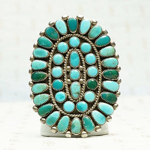 Incredible Huge Zuni Turquoise Ring