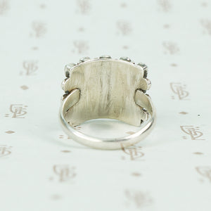 vintage silver Zuni petit point ring back