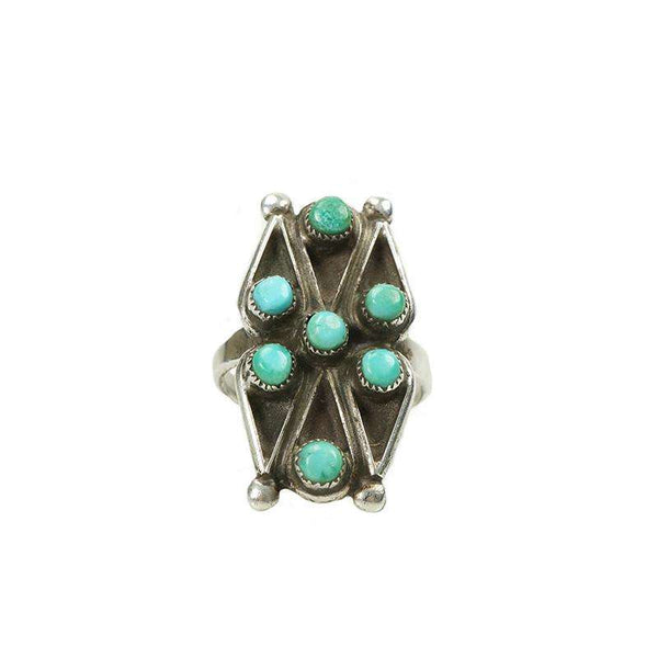 Fine Jewelry Vintage Wire Earrings Sterling Silver Native American Turquoise Bear Claw Lustrous Surface