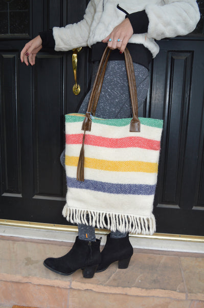 Pendleton Tote with Fringe