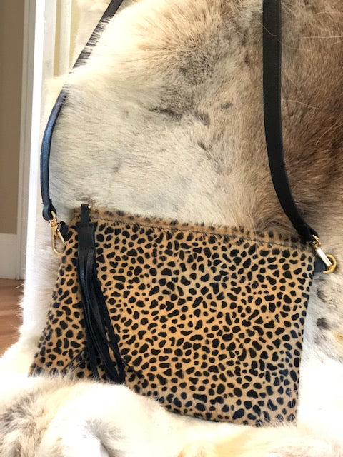 Leopard Hide Cross Body Bag