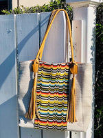 Kendall Tote with Leather Tassels