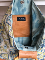 Round Bamboo Blue Bag