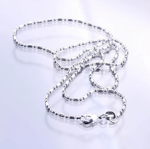 Silverplated Bamboo Chain
