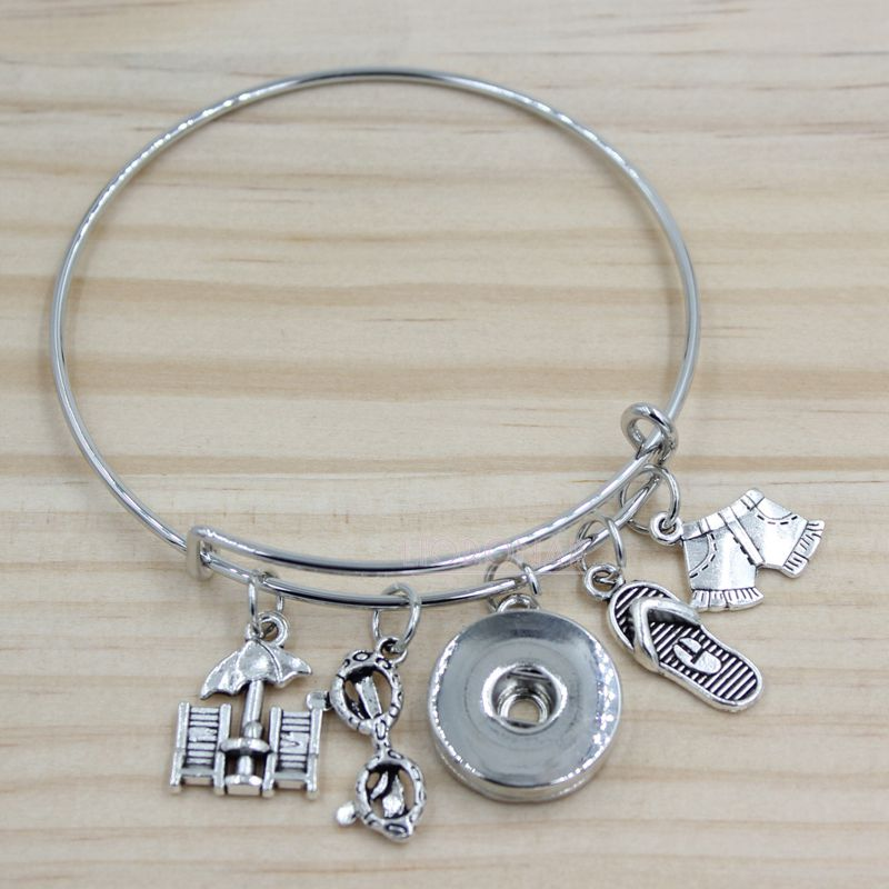 Bangle Bracelet - Beach Themed
