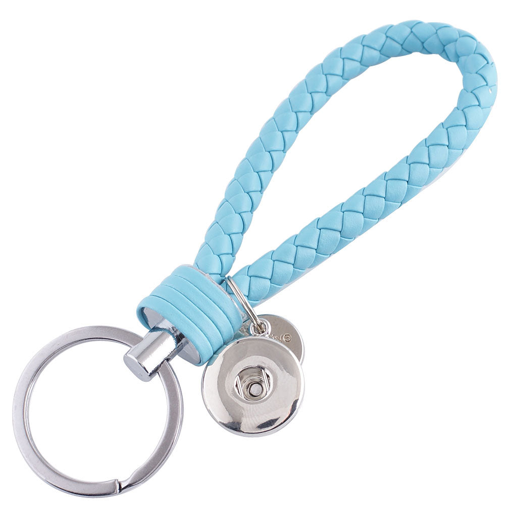 Braided Keychain - Light Blue