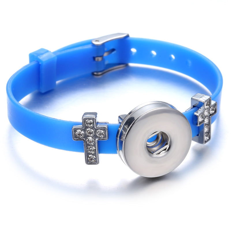 Bracelet - Blue Jelly Cross